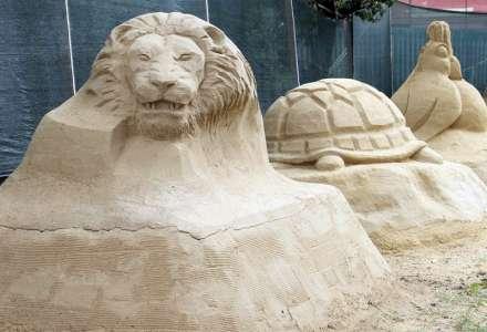 Sochy z písku v Rožnově pod Radhoštěm
