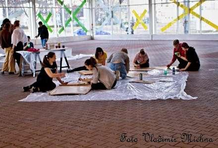 Malování transparentů a workshop s Rodiči za klima