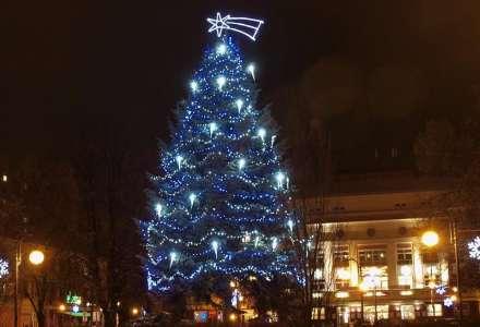 Rozsvícení vánočního stromu, náměstí SNP, Zábřeh