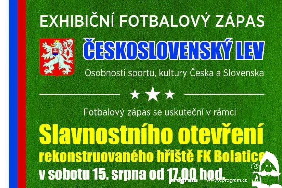 Exhibiční fotbalový zápas ČESKOSLOVENSKÝ LEV