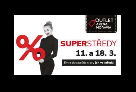 Superstředy poprvé v Outlet Arena Moravia