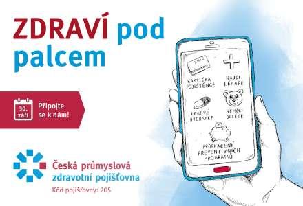 Příspěvek od ČPZP přes mobilní aplikaci