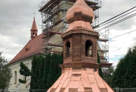 Rekonstrukce kostelní věže v Petrovicích u Karviné