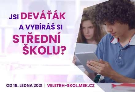 Veletrh středních škol Moravskoslezského kraje bude on-line