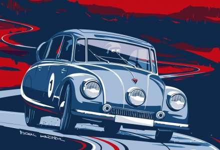 Závody veteránů na Valašsku s vozidly Tatra, Porsche či Ferrari