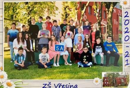 Páťáci se loučí se ZŠ Vřesina a děkují paní učitelce Adéle Podané