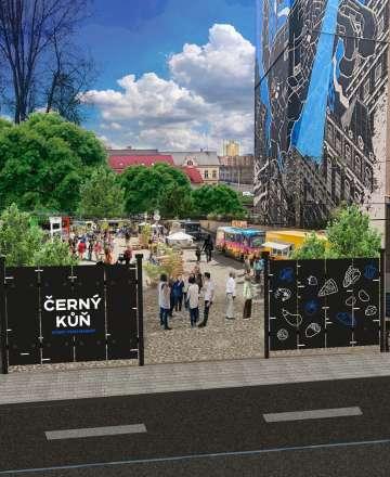 Street food market Černý kůň láká na pochutiny i posezení