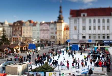 Vánoční kluziště je opět připraveno na Masarykově náměstí
